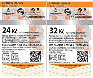 Billetes de transporte de Praga