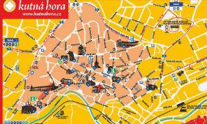 Mapa de Kutná Hora
