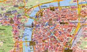 Mapa de Praga con monumentos